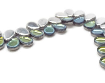 BACKLIT Teardrops,  9x11mm in Tequila, 30 pcs