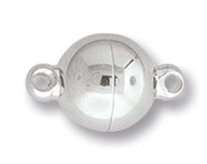 MAGNETIC BALL CLASP 8mm  Stainless with Loop