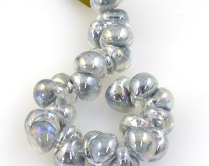 UNICORN MINI Teardrops Beads. Mystique Pearl, 25 beads