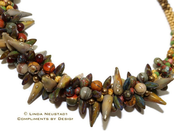 Necklace, Multi Beaded Kumihimo  Designer, Original, Unique, a Statement Piece, One of a Kind