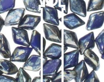 Gem Duo Royal Blue Rembrandt, 8 gm Tube, approx.( 55-60 beads)  8x5mm