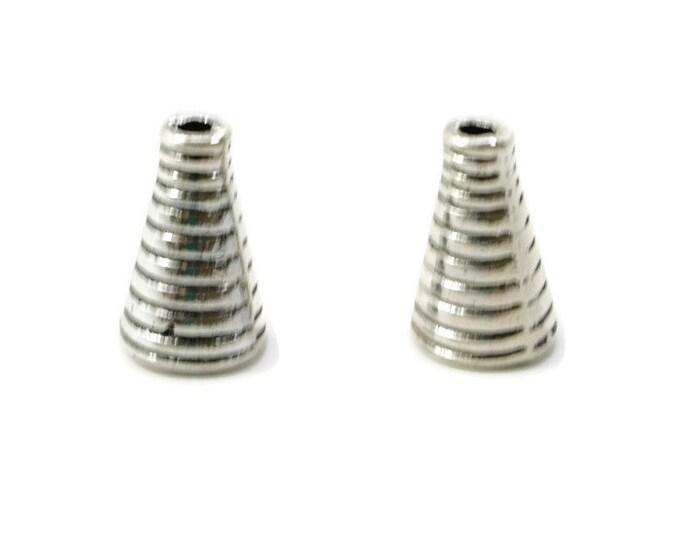 CONE END, END Cap,  7mm, Gunmetal, Grooved Cone End Cap,  Tierracast
