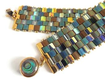 Tila Bead Bracelet, Flat Beaded Bracelet, Minimalist Jewlery, Trendy