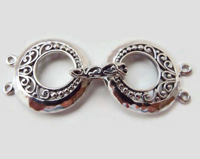 Sterling Silver Multiple Stand Clasp