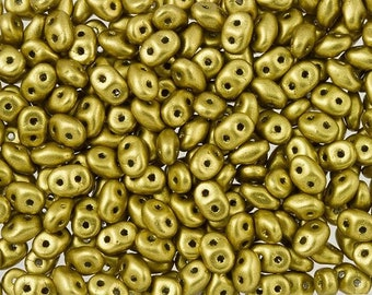 Superduo, 2.5x5mm, Crystal Aztec Matte Gold, Approx. 22.5 gram Tube