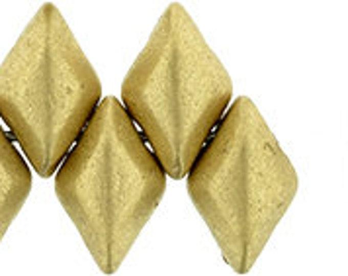 GEMDUO, 2 Hole Beads, Matte Metallic Flax, 379-85-K0171,  2 Hole Bead, 8X5MM,  10 grams