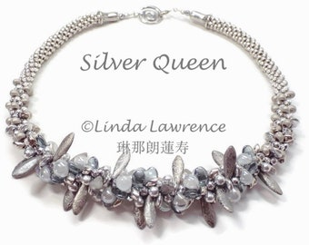 SUPPLY KIT Kumihimo Silver Queen Necklace