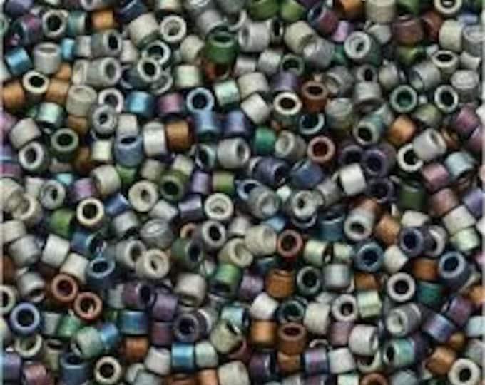 DBMix24 Delica Mixed Heavy Metals Matte, 11/0 Miyuki Delica Seed Beads, 7.2 grams