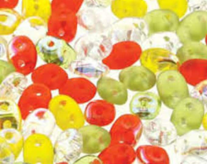 SuperDuo 2-Hole Beads Citrus Infusion 10g [DU0503000]
