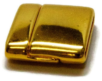 MAGNETIC FLAT CLASP  20mm -Bright Gold