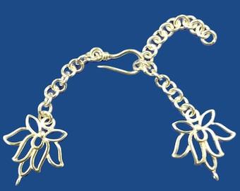 Adjustable Multi Strand  J Hook Clasp White Bronze