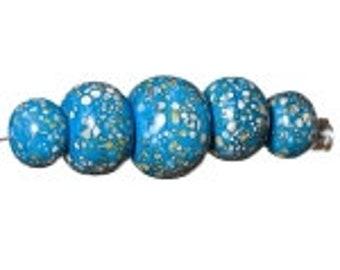 Unicorn Marble Beads, Isabella #22389  # 5 Graduated Beads per Set