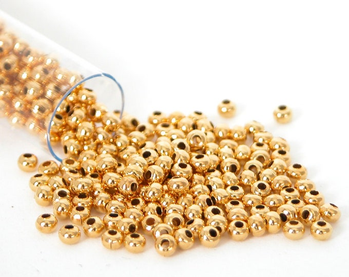11/0 Heavy Metal 24K Gold Plate Seed Beads 25 grams