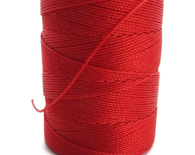 C-Lon Tex 135 Fine Weight, SHANGHAI RED Large Spool, 136 Yards