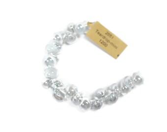 UNICORN MINI Teardrops, Luster Series - Mystique Pearl (25 beads) #22651