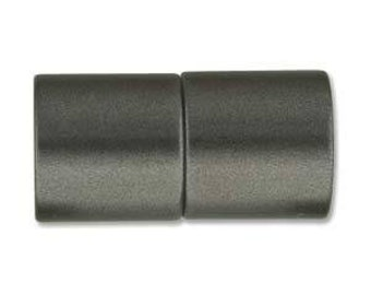 8mm Acrylic Magnetic Cylinder Clasp, ID Matte Black, approx. 21x10.5mm,