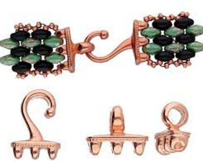 Cymbal MESARIA  III Superduo Bead Hook Rose Gold