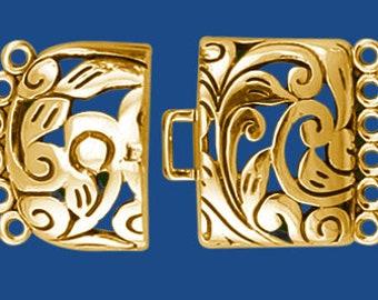 Multi-Stand Filigree Clasp -Bronze