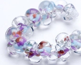 Teardrops Unicorn  #4199 Wild Hyacinth, Exotic Series  25 beads