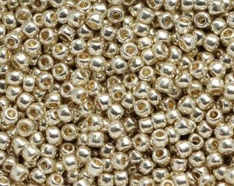 11/0 Toho  PF558 Seed Beads PermaFinish Aluminum,  20 grams