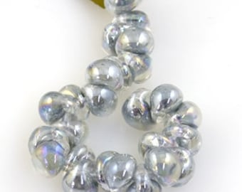 UNICORN 9mm Teardrops Beads. Mystique Pearl, 25 beads