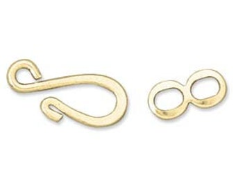 Hook and Eye Clasp  Set of 5 pairs