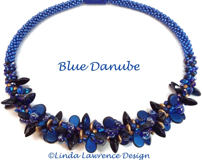 COMPLETE KIT  Kumihimo NECKLACE Blue Danube