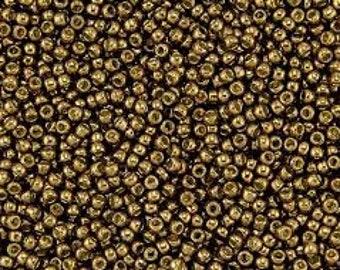 11/0, Toho, PF594, Metallic Bronze, PermaFinish, 20 Grams