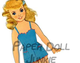 Vintage Marilyn Monroe Paper Doll Download Printable Clip Art