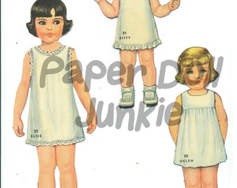 image regarding Printable Vintage Paper Dolls titled Printable paper dolls Etsy