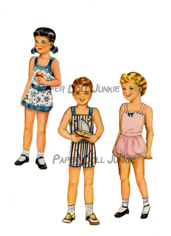 graphic regarding Printable Vintage Paper Dolls referred to as Cute Established of 6 Printable Paper Dolls with 32 dresses, Typical Paper Dolls, Immediate Down load Paper Dolls