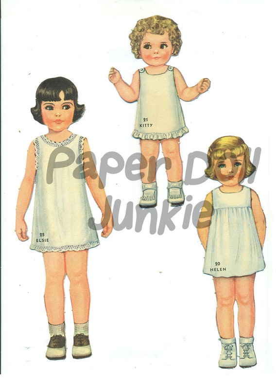 photograph about Printable Vintage Paper Dolls called Large Printable Preset of 25 Common Paper Dolls and Outfits