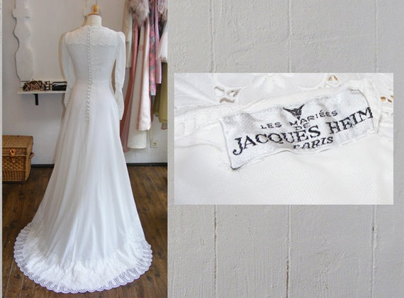 Items Similar To Designer Vintage Wedding Dress, 40s