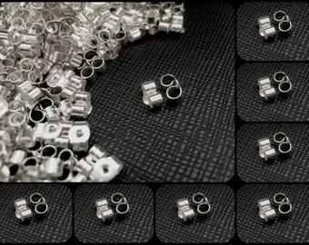 Sterling Silver Butterfly Earring Backs Scrolls Push Fit .925(6mm x 4mm)