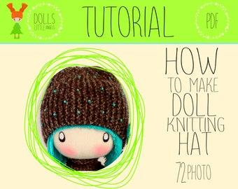 Doll Hat, Knitting Pattern, Doll Accessories, Doll Knitting Pattern, Doll Knitting Clothes, Cloth Doll, Cute Doll Hat, Textile Doll, PDF