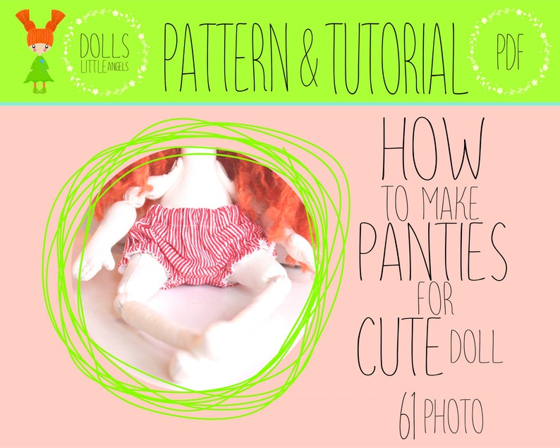 Doll Clothes Pattern, Panties Doll, Make Your Own Doll, Rag Doll, Textile  Doll, Cloth Handmade Doll, Doll Clothing, Bloomer Cute Doll, PDF