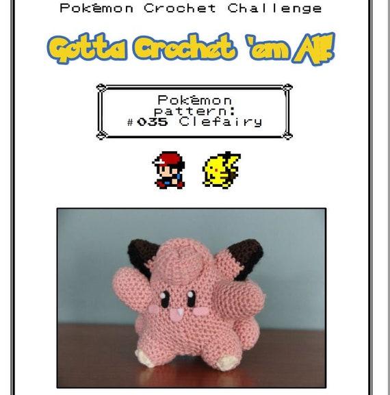 Clefairy and Cleffa pokémon crochet pattern | Etsy