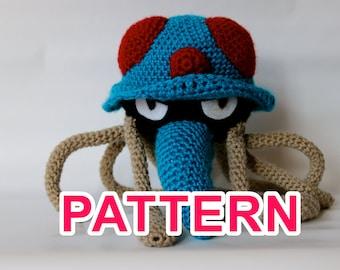 Tentacruel pokémon crochet pattern