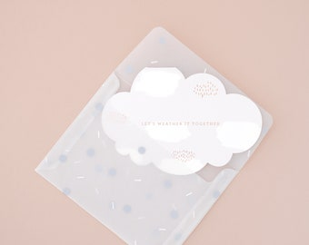 Get Well Soon, Let's Weather It Together, Sympathy Greeting Card