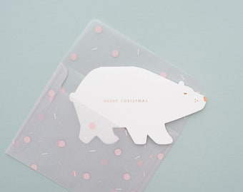 Merry Christmas, Arctic Polar Bear Greeting Card
