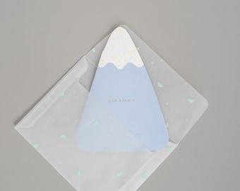 Farewell, Bon Voyage, Mountain Greeting Card