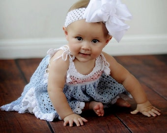 Carlie Pinafore Dress Crochet PDF Pattern Size 0/3, 6/9, 12 and 24 Months