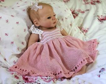 Adalina Baby Dress Knit PDF Pattern Size 0/3, 6/9, 12 and 24 Months