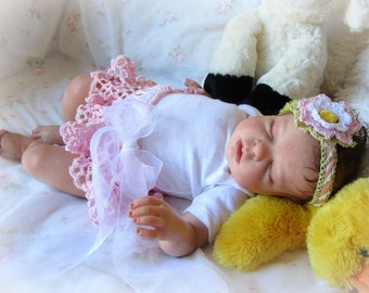 Crochet Lace Baby TuTu and Headband Pattern