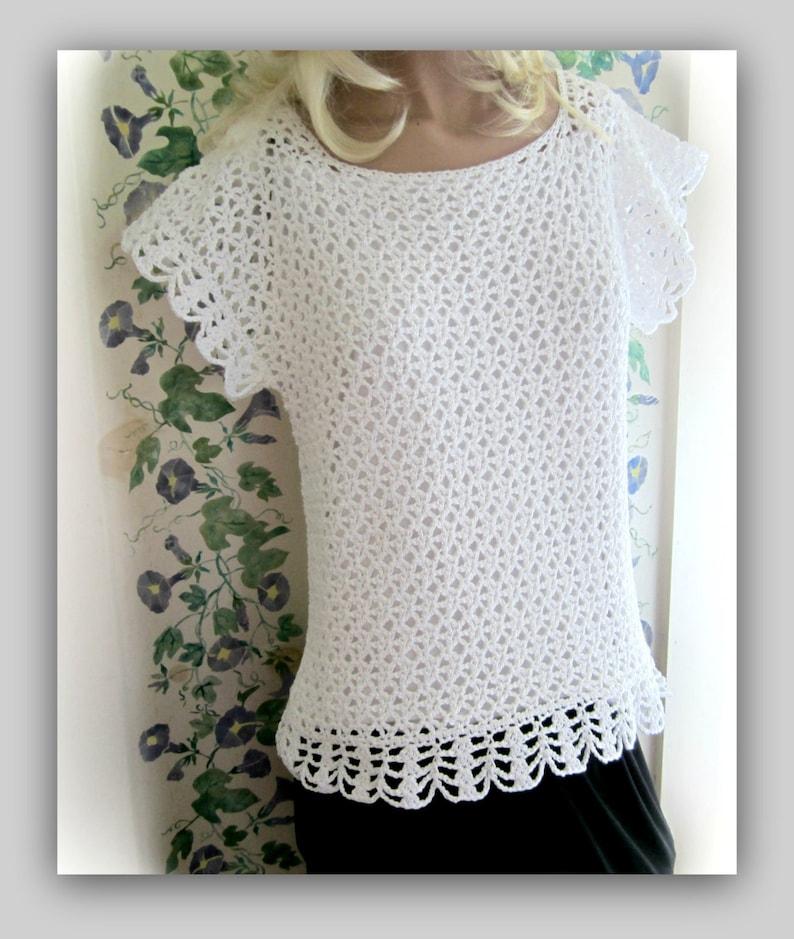 Sideways Sassy Lace Top Pattern Women Small to 2X image 0