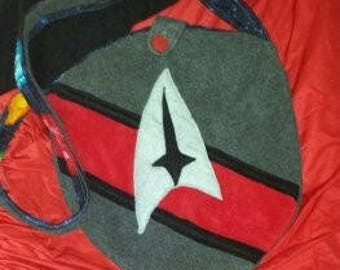 Star Bag, cross body fleece bag in Red, Blue, or Gold