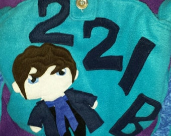 Sherlock 221B cross body fleece Messenger bag