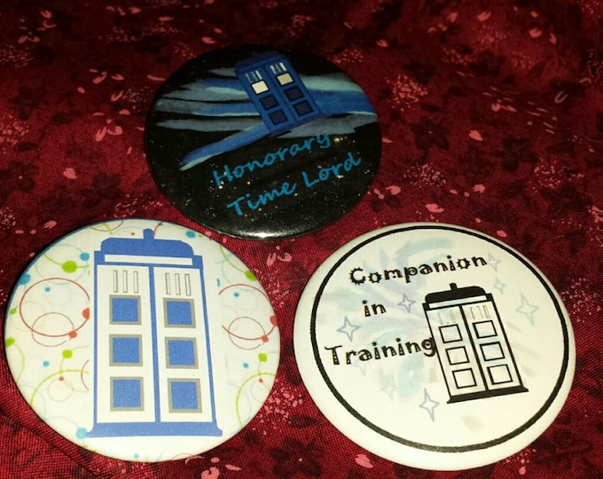 Lord of Time and Companion set of 3 Buttons