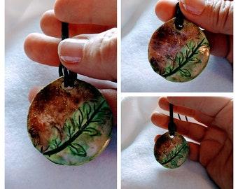 Summer Memories: Hand painted Clay Work Pendant