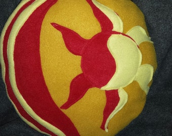 Sunset Cutie  Pillow made in fleece